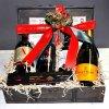 Ξύλινο κασελάκι για δώρο με 4 φιάλες κρασί ή ποτά